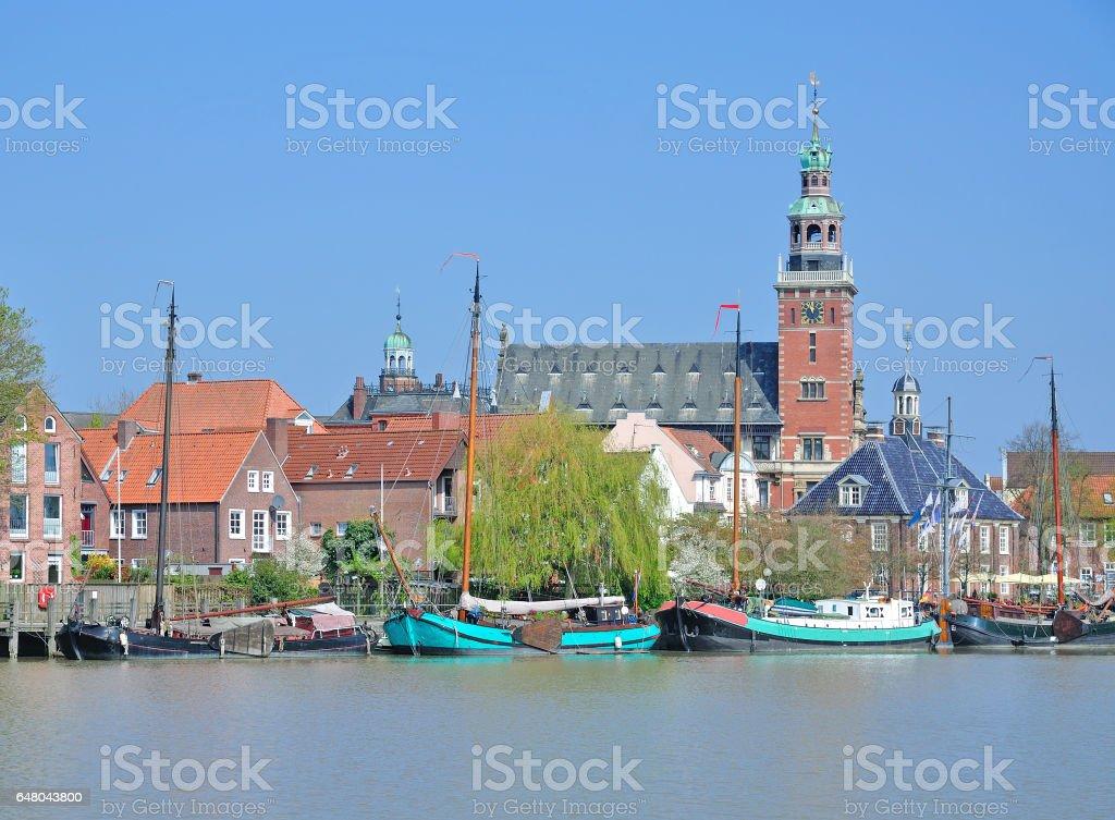 Village of Leer,East Frisia,Germany stock photo