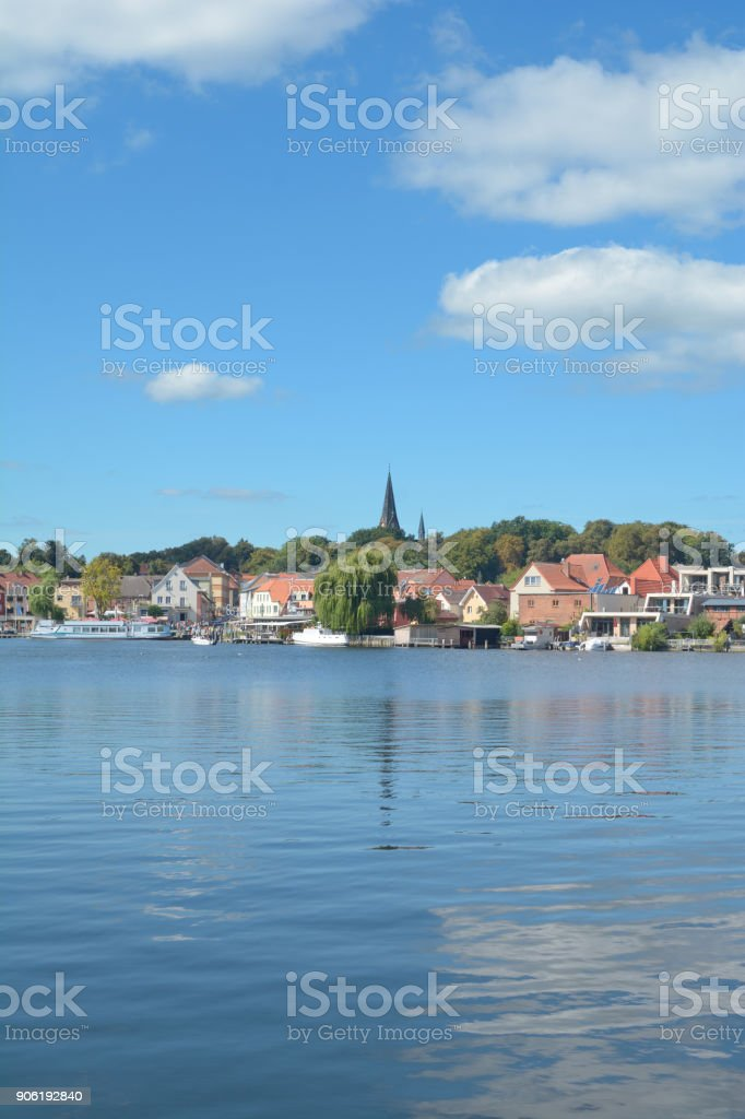 Village of Malchow,Mecklenburg Lake district,Germany stock photo