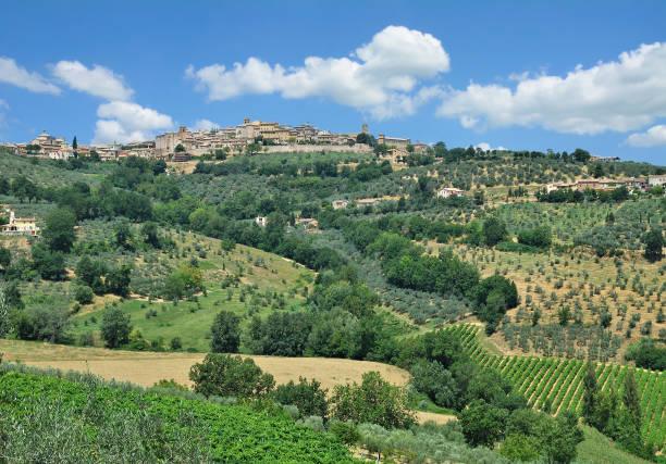 Dorf von Montefalco, Umbrien, Italien – Foto