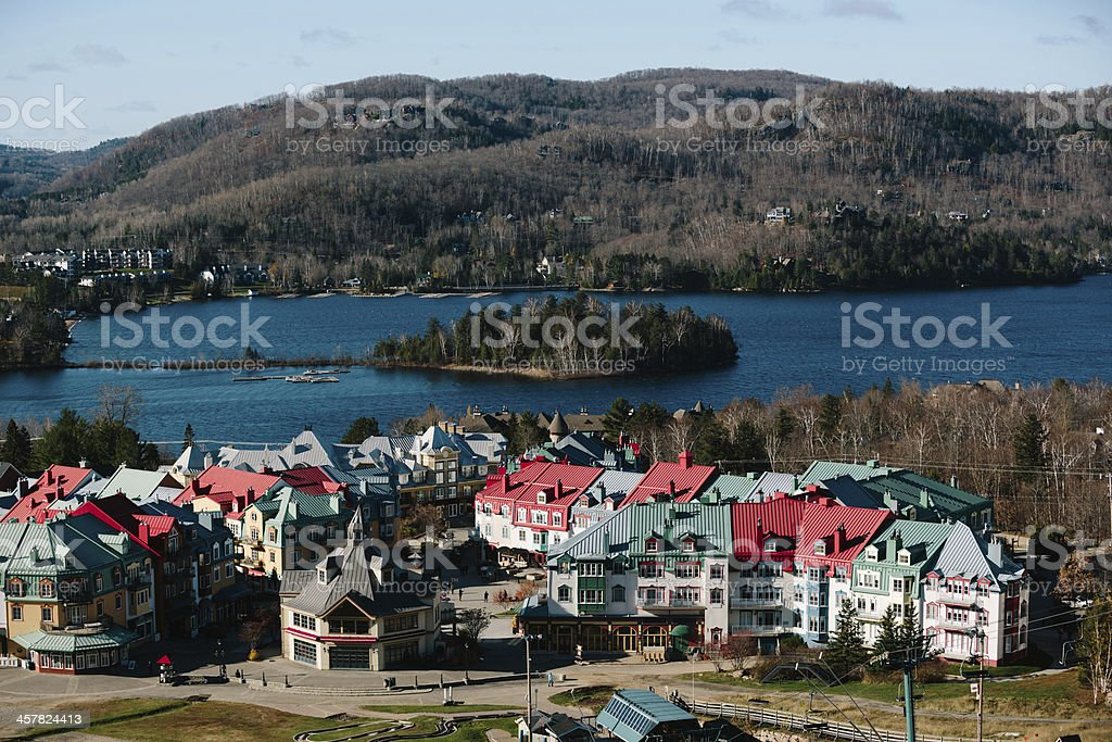 Village du Mont-Tremblant royalty-free stock photo