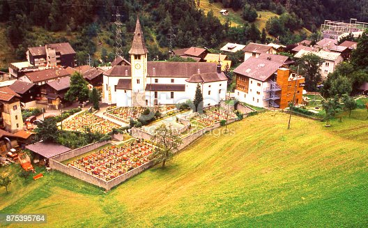 Village of Morel near Brig in the Swiss Alps and point of departure to the Riederalp and the Aletsch Glacier Switzerland Europe