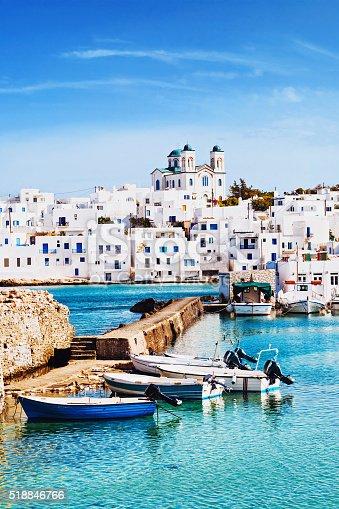 istock Village of Naousa, Paros island, Greece 518846766