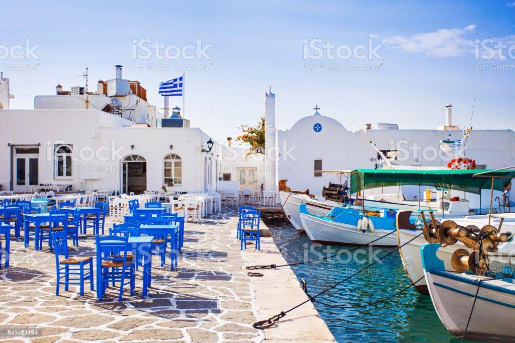 Pueblo de Naousa, Paros Isla, Grecia - foto de stock