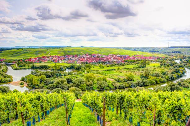 dorf von nordheim im weinanbaugebiet in franken - main stock-fotos und bilder