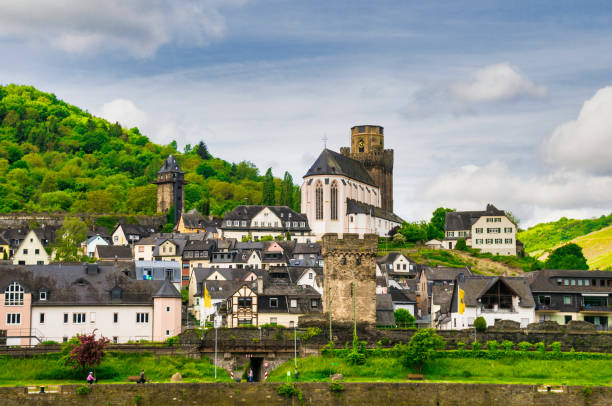 Village of Oberwesel stock photo