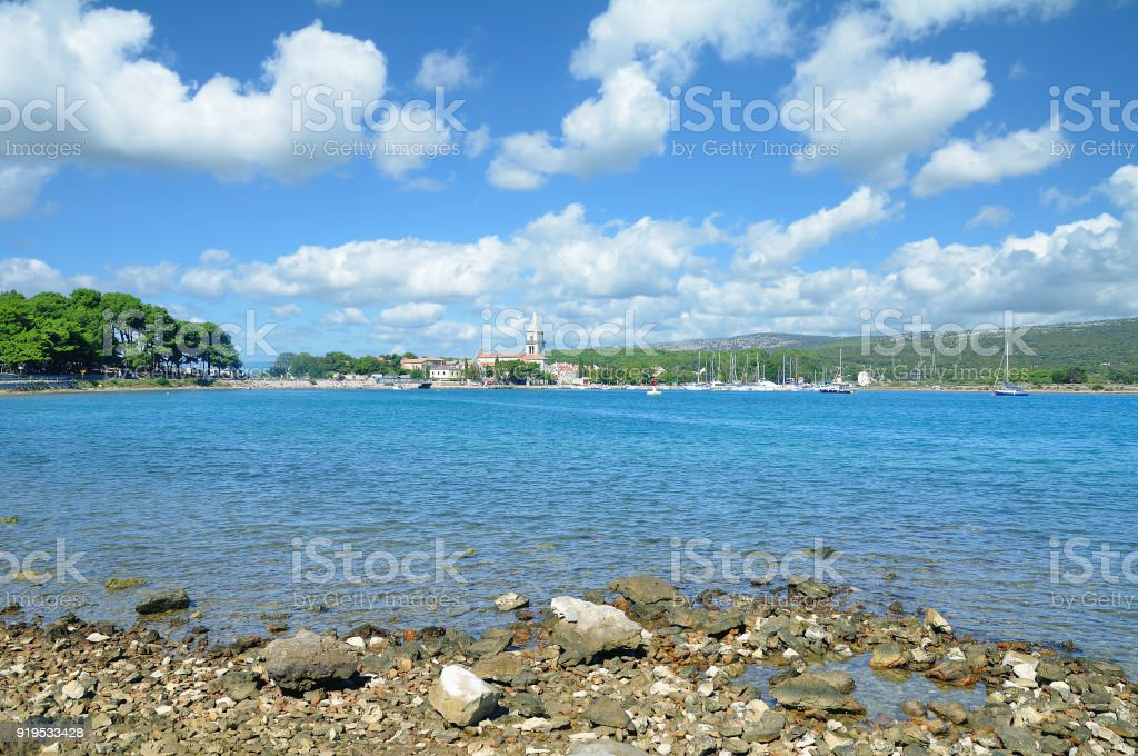 Village of Osor,adriatic Sea,Cres,Croatia stock photo