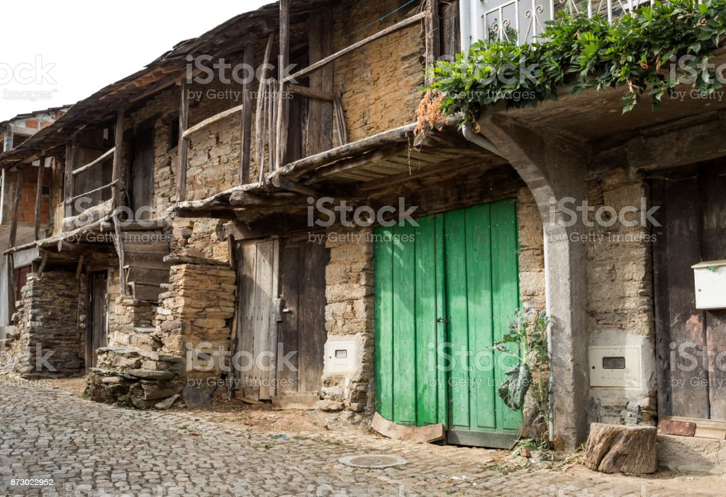 Village of Rio de Onor stock photo