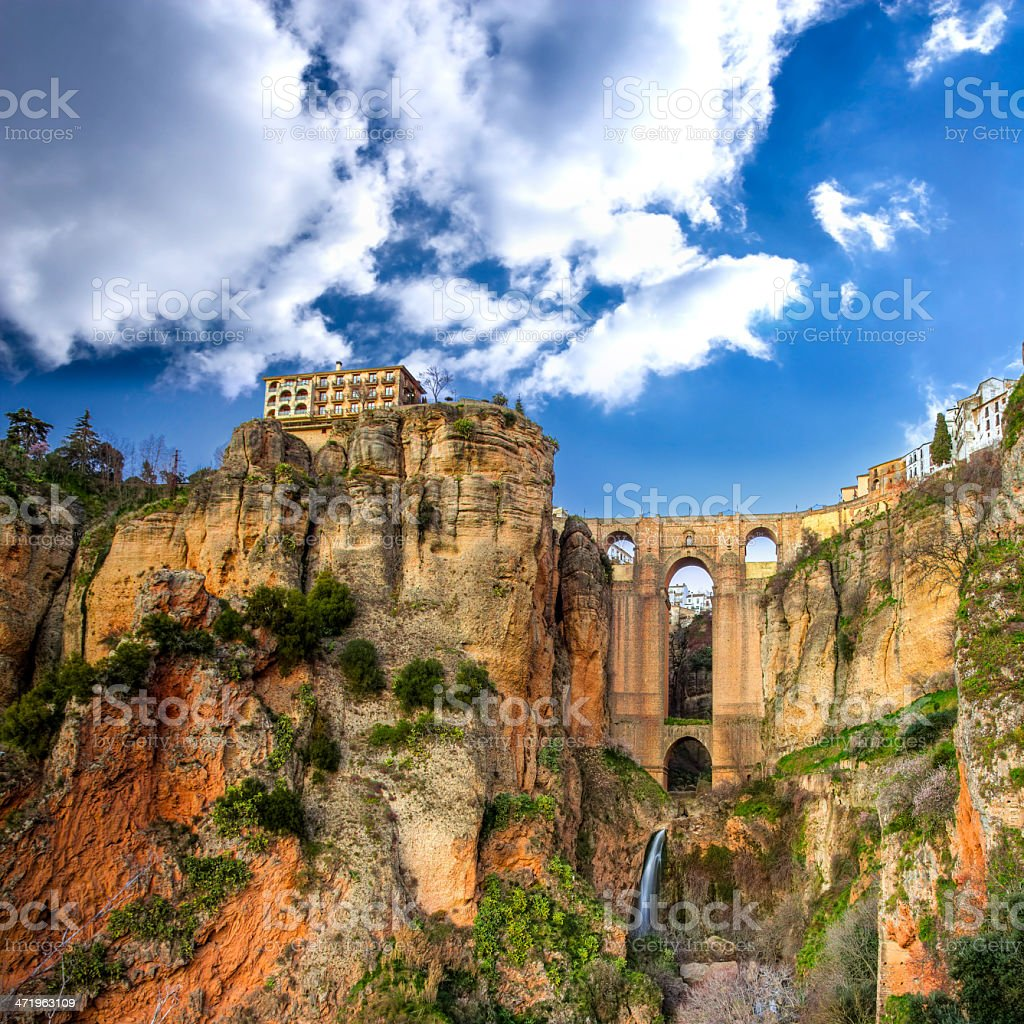 Village of Ronda in Andalusia, Spain stock photo