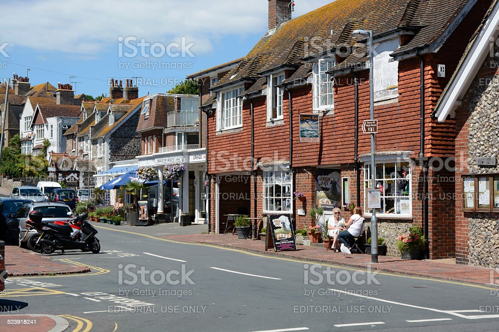 Village of Rottingdean in East Sussex. England stock photo