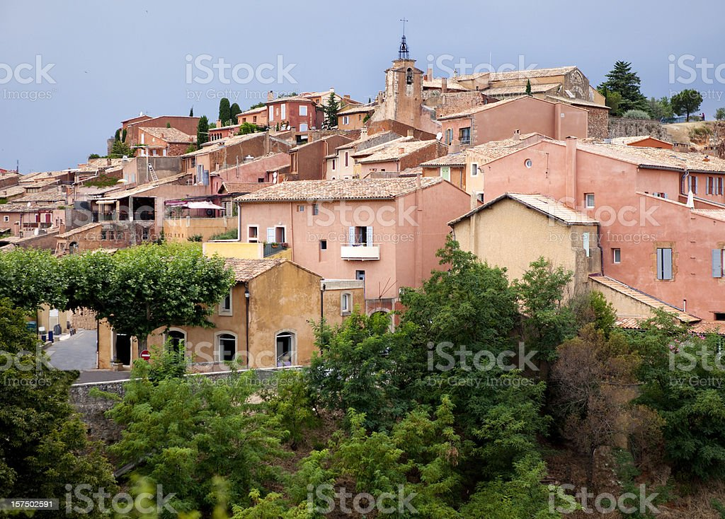 Village of Roussillon in Provence France stock photo