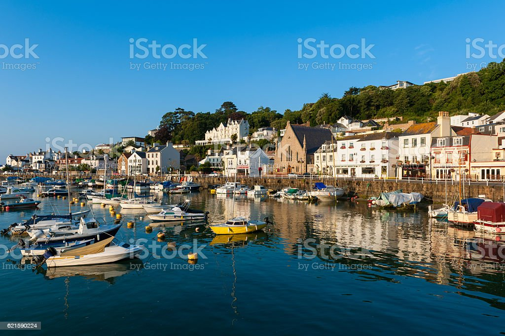 Village of Saint Aubin Jersey stock photo