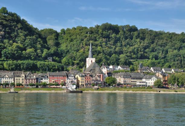 Dorf Sankt Goar, Rhein, Rheinland-Pfalz, Deutschland – Foto