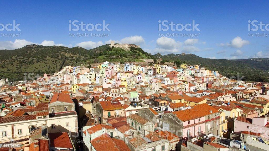 Village of Sardinia, Italy, named Bossa stock photo