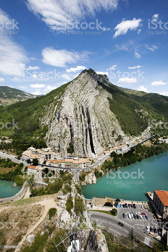 Village of Sisteron in Provence France royalty-free stock photo