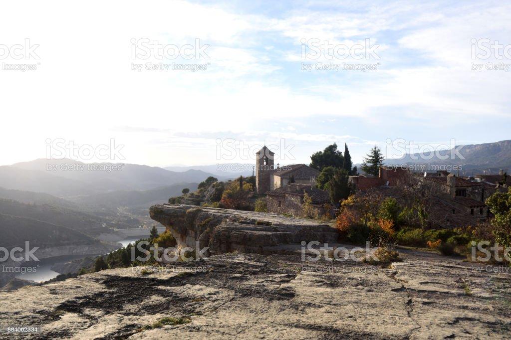 Village of Siurana, El Priorat, Tarragona province, Catalonia, Spain stock photo