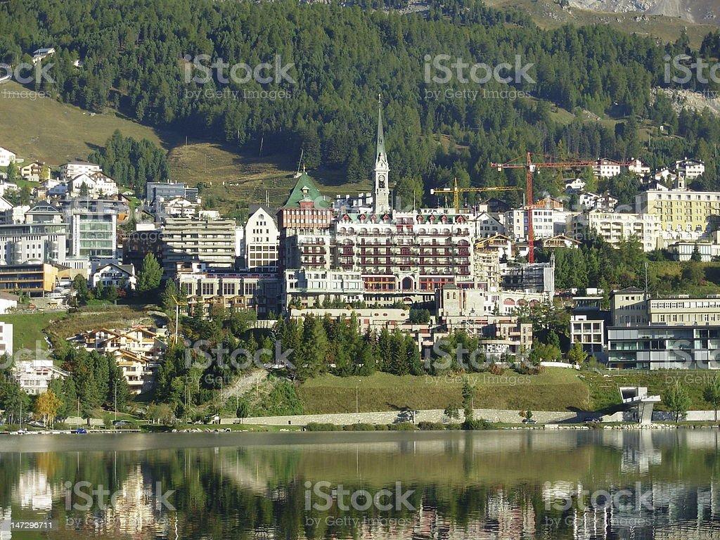 village of St. Moritz stock photo