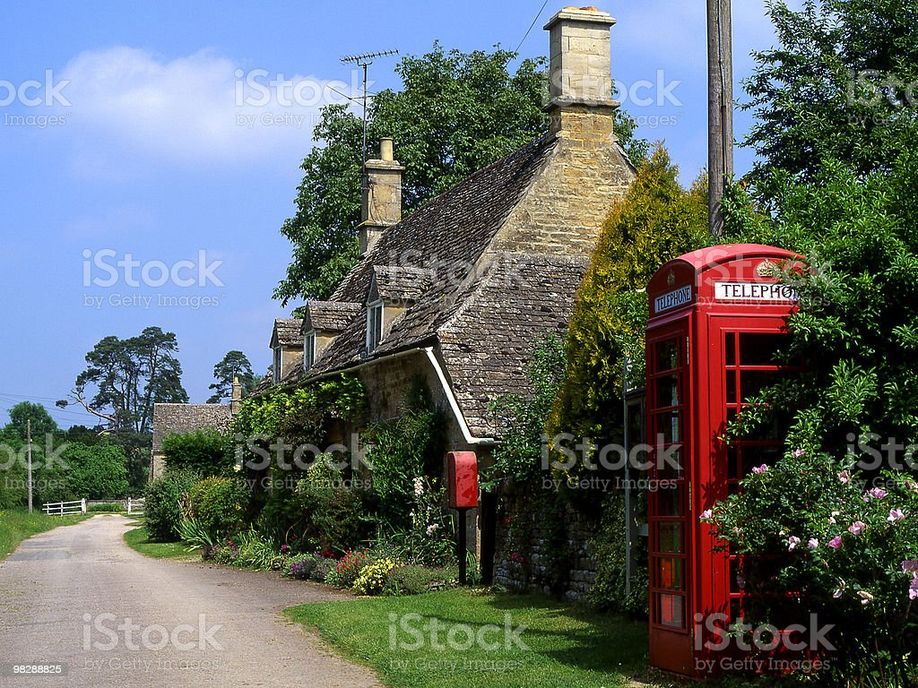 Village of Taynton. Oxfordshire. England royalty-free stock photo