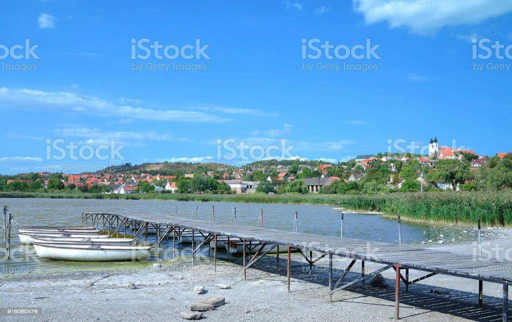 Village of Tihany,Lake Balaton,Hungary stock photo