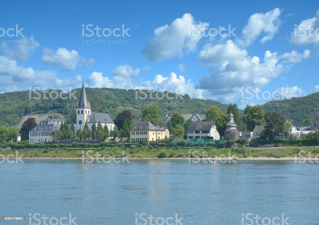 Village of Unkel,Rhine River,Rhineland-Palatinate,Germany stock photo