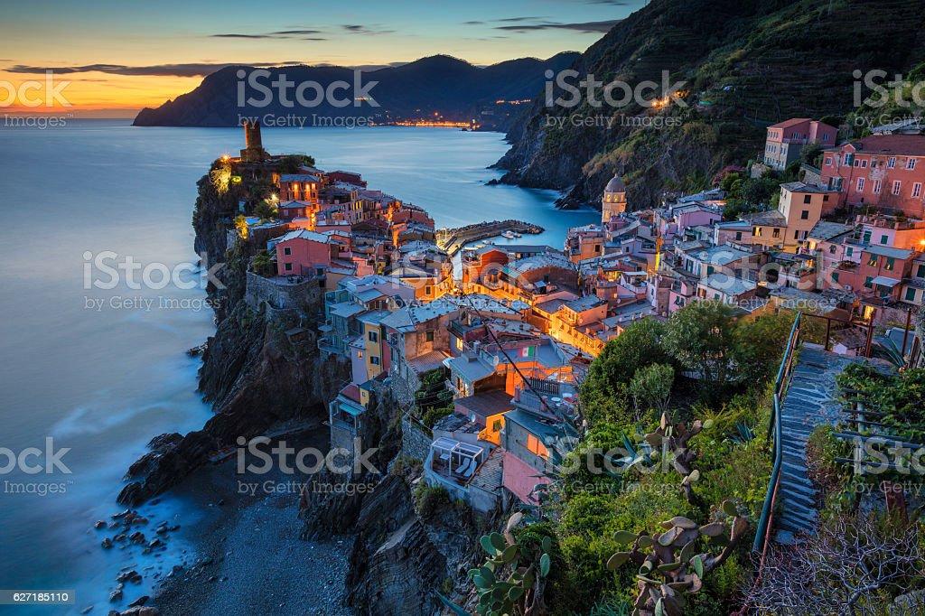 Village of Vernazza. stock photo