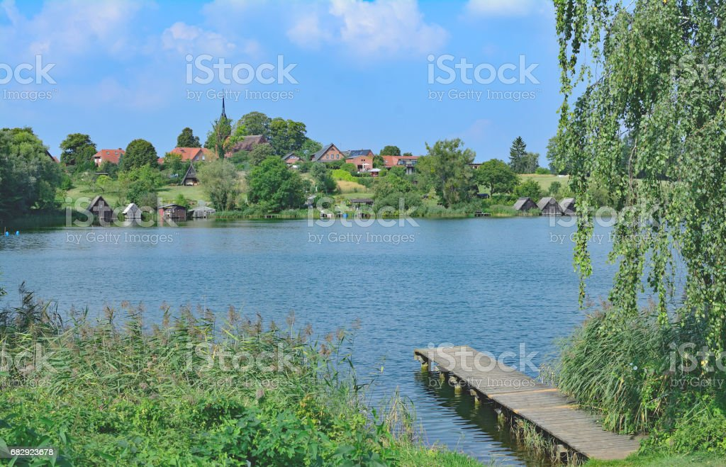 Village of Wustrow,Mecklenburg Lake District,Germany stock photo