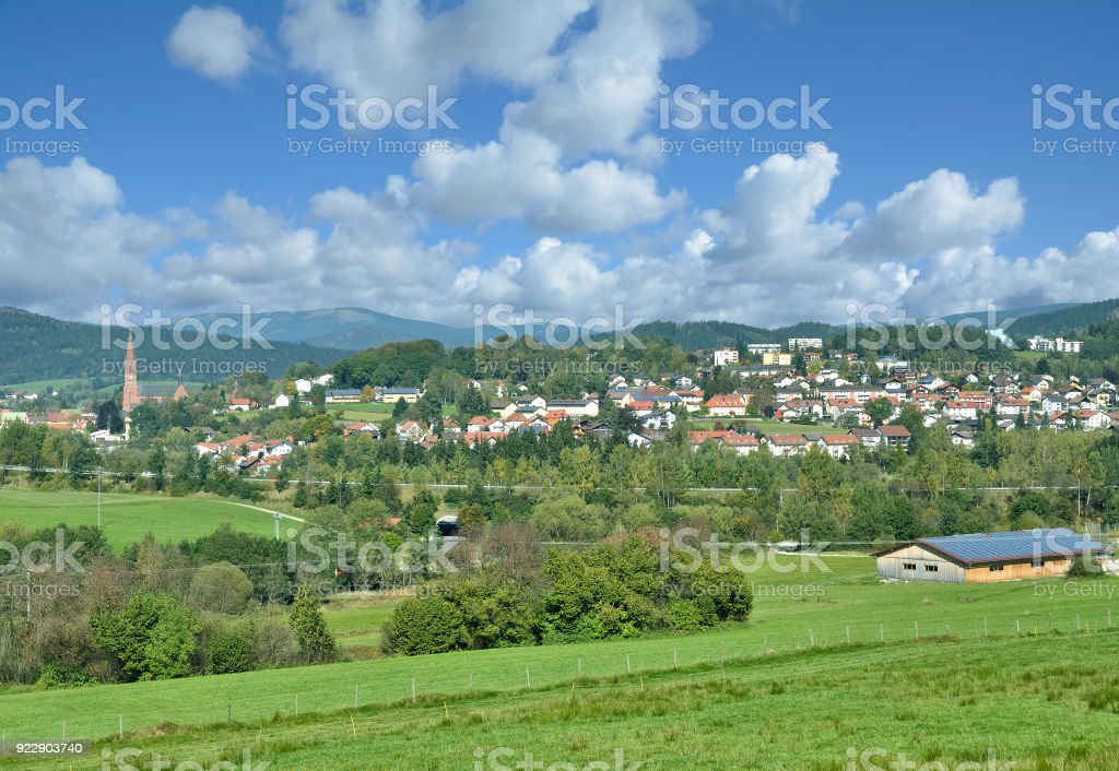 Village of Zwiesel,bavarian Forest,Bavaria,Germany stock photo