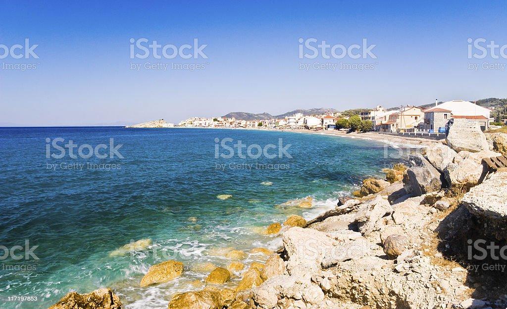 Village on a Beach royalty-free stock photo