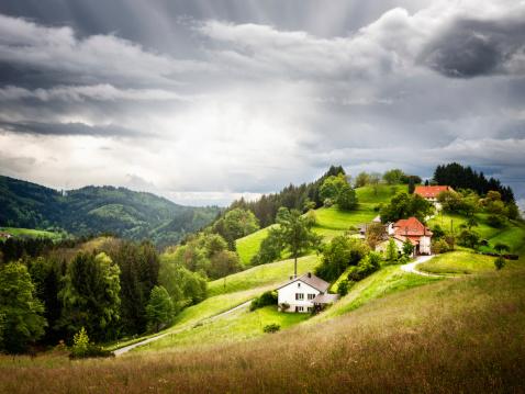 Village on hill