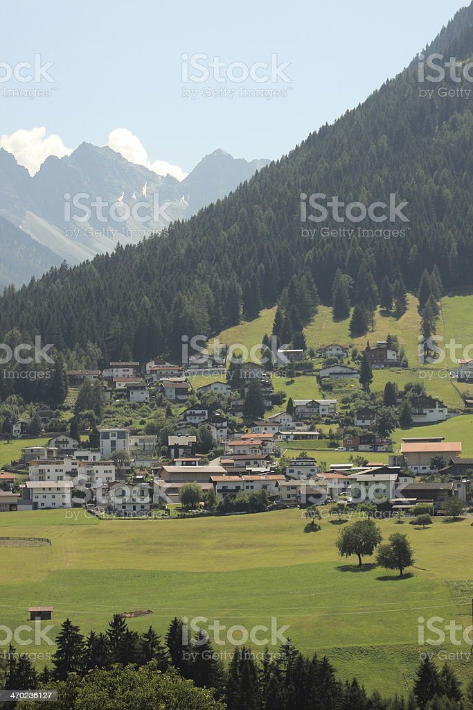 Village on hill side in the fantastic Alps