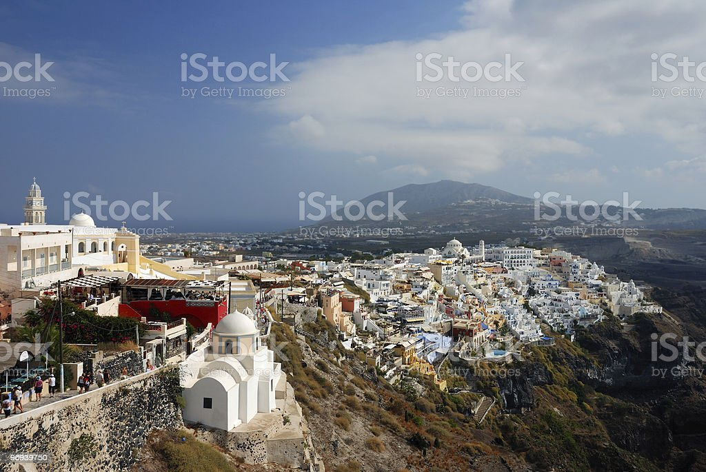 Village on Santorini island royalty-free stock photo