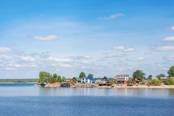 Cтоковое фото Village on the banks of the Volga in Tatarstan