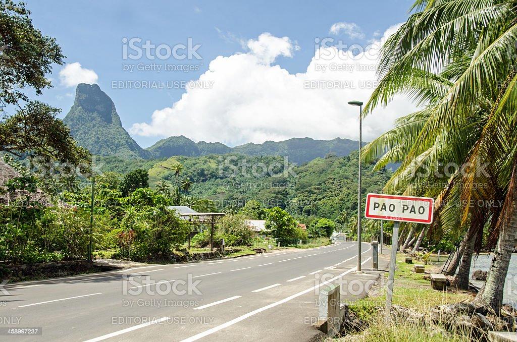 Village on the Island of Moorea royalty-free stock photo