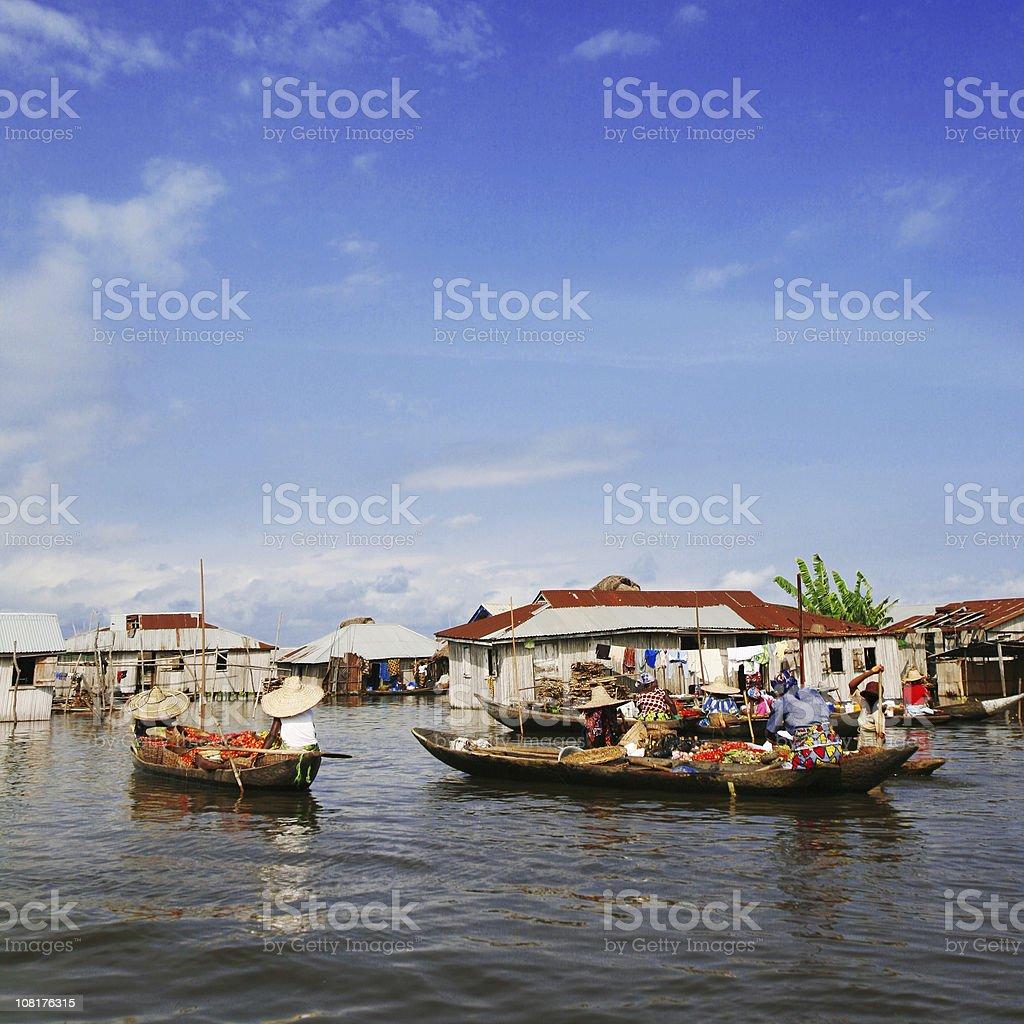 village na água - foto de acervo