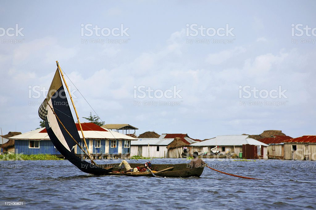 village on the water royalty-free stock photo