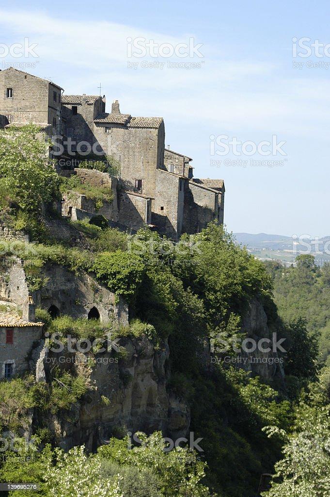 village on top stock photo