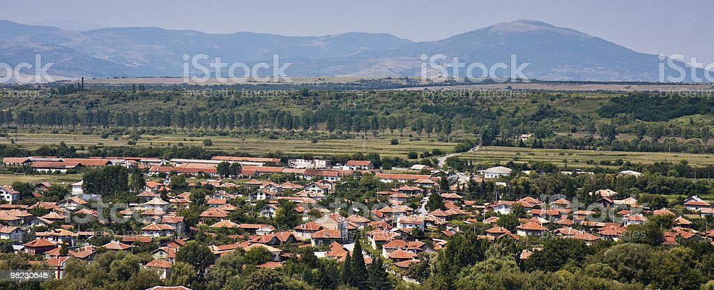 Villaggio Panorama foto stock royalty-free