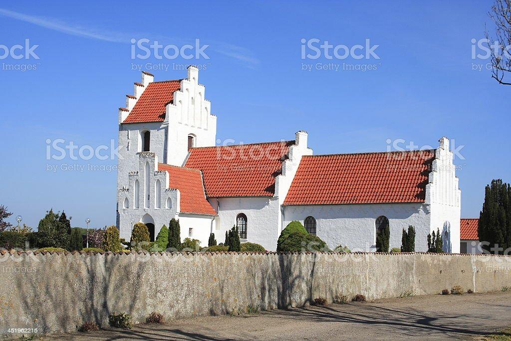 Village parish church stock photo