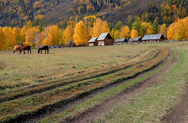 Village stock photo