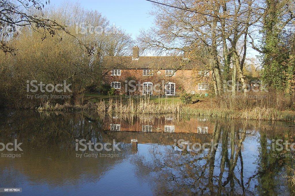 Village pond royalty-free stock photo