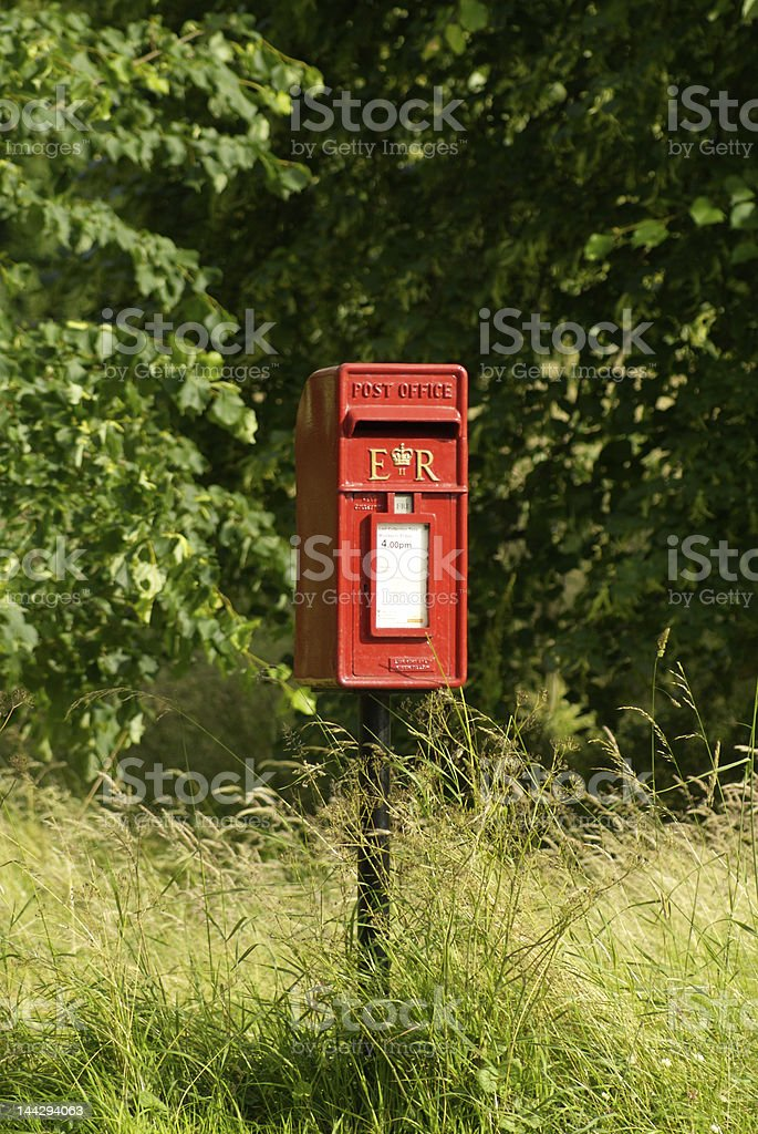 Village Post Box royalty-free stock photo
