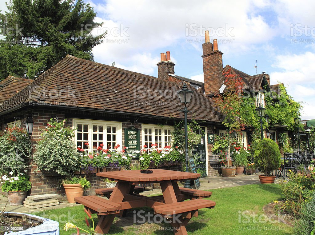Village Pub Typical village pub in Winchester Alcohol - Drink Stock Photo