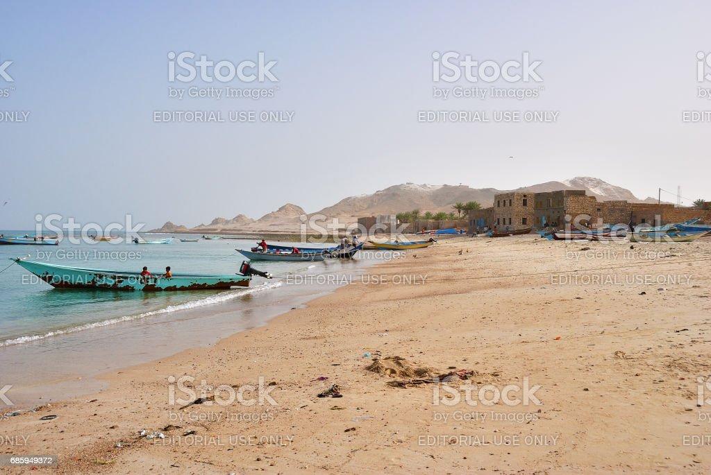 Village Qalansiya, Socotra, Yemen stock photo