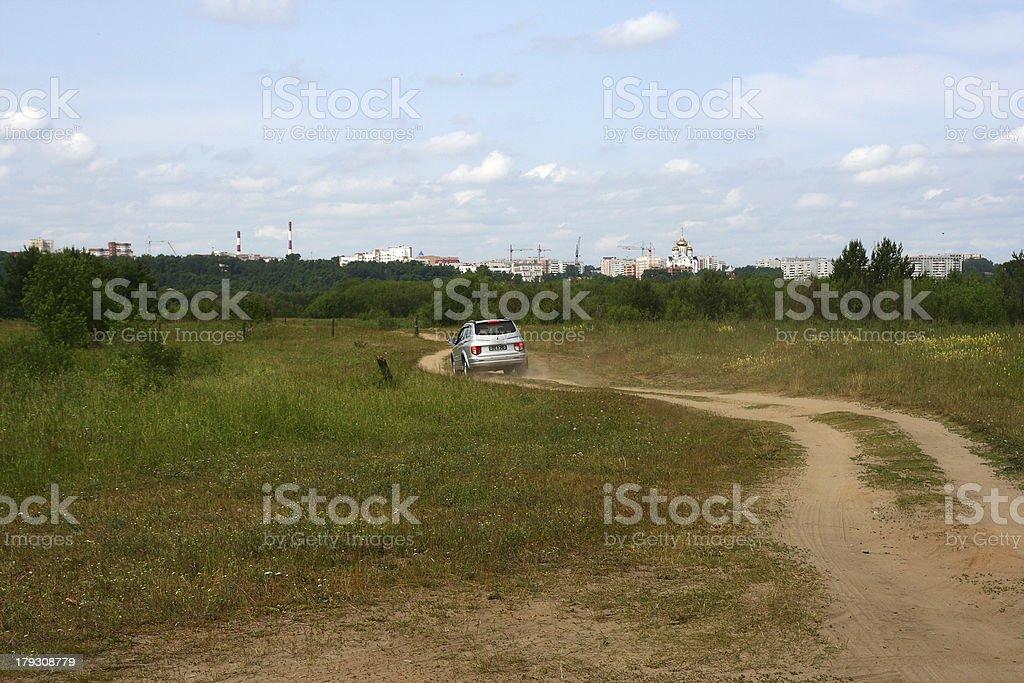 village road royalty-free stock photo
