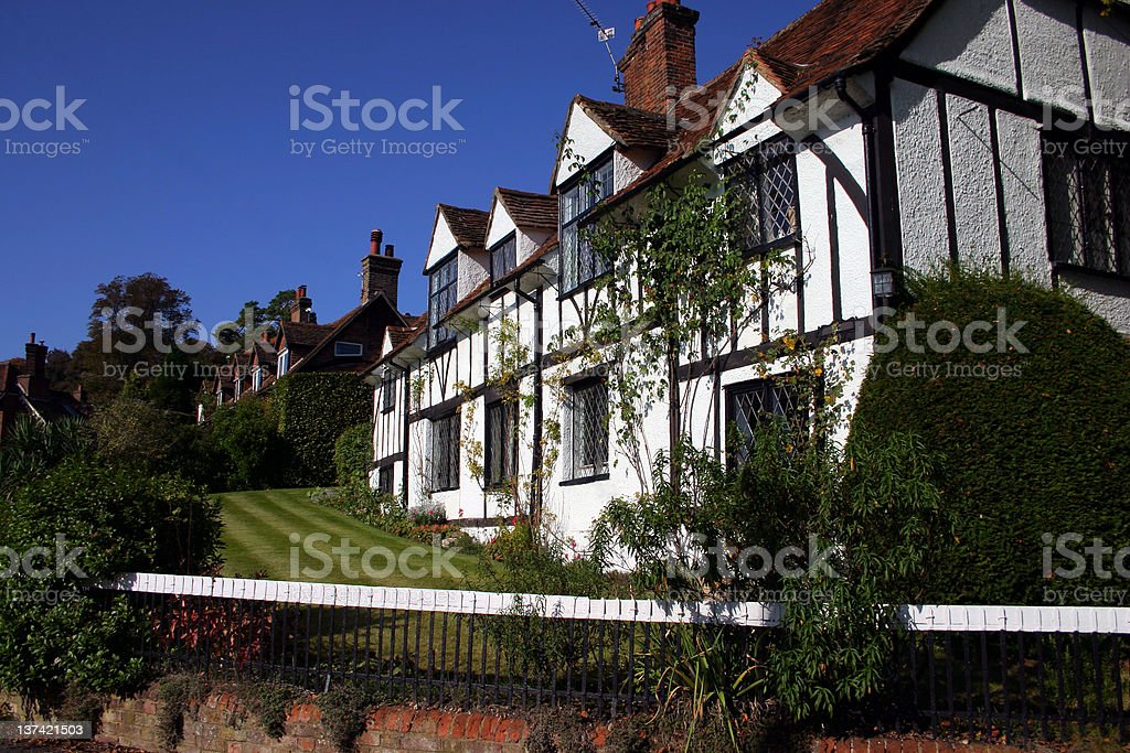 Village Scene royalty-free stock photo
