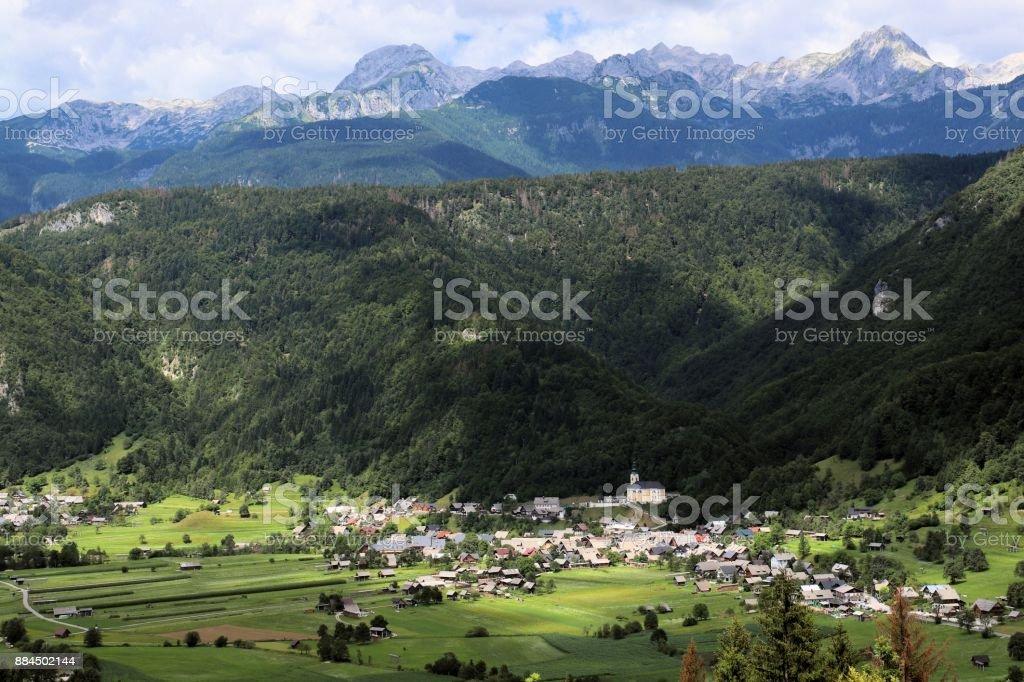 Village Srednja vas in Slovenia stock photo