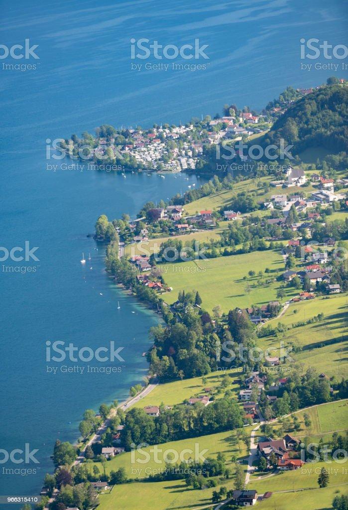 Dorf Steinbach bin Attersee, Österreich, Österreichische Alpen – Foto