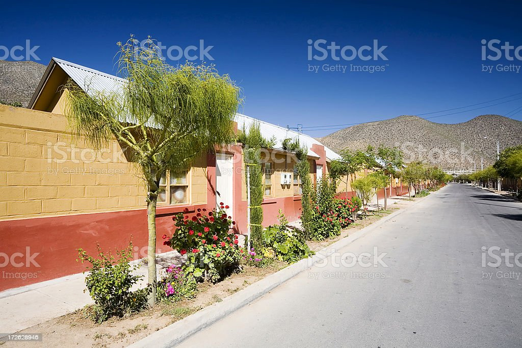 Village Street, Chile royalty-free stock photo