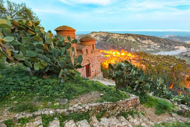 village Stilo in Calabria stock photo