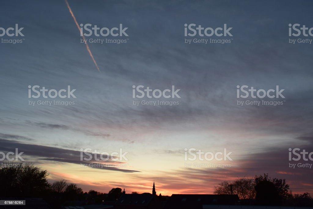 Sunset village photo libre de droits