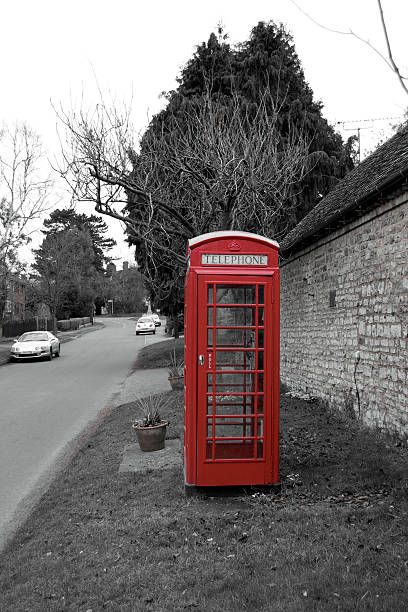 Village Telephone Box stock photo